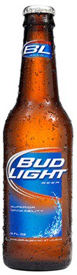 Bud Light Bottles 12oz - 12 Bottles