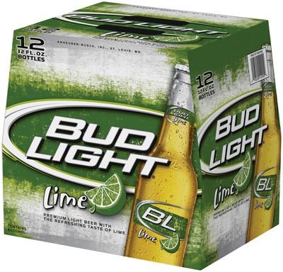 Bud Light Lime 12oz - 12 Bottles