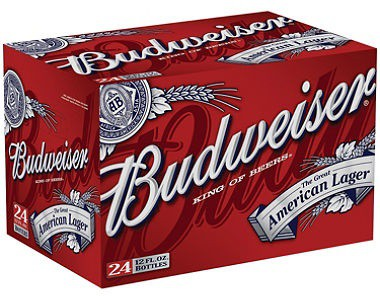 Budweiser 12oz - 24 Pack