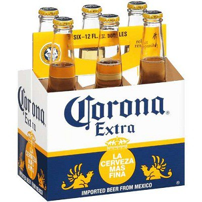 Corona Extra Bottles 12oz - 6 Pack