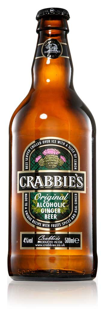 Crabbie's Original Alcoholic Ginger Beer 12oz - 4 Pack