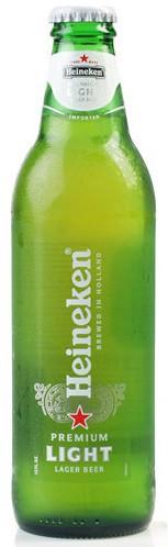 Heineken Light Beer 12oz - 12 Bottles