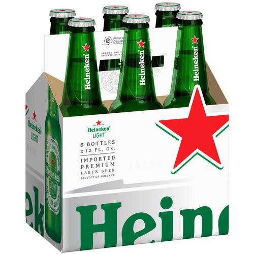 Heineken Light Beer 12oz - 6 Pack