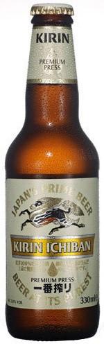 Kirin Ichiban Malt Beer 12oz - 12 Bottles