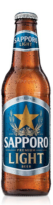 Sapporo Light Premium Beer 12oz - 12 Bottles