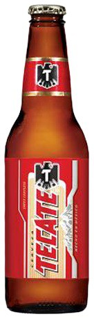 Tecate Beer Bottles 12oz - 12 Bottles