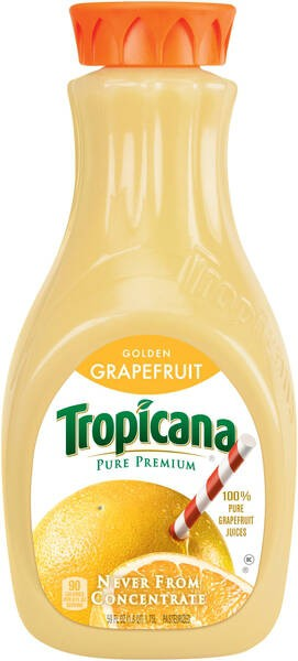 Tropicana Golden Grapefruit Juice 2 Bottles 59oz
