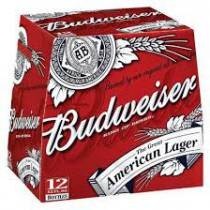 Budweiser 12oz - 12 Bottles