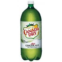 Canada Dry Diet Ginger Ale 12 Bottles 2L