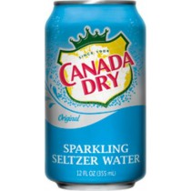 Canada Dry Seltzer Water 12 Bottles 1L