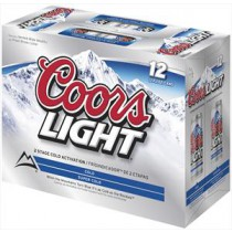 Coors Light Cans 12oz - 12 Cans
