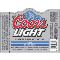 Coors Light, 15.5 Gal - HALF BARREL Keg