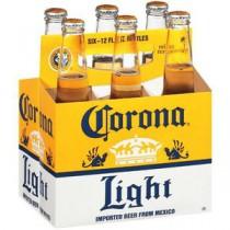 Corona Light Bottles 12oz - 6 Pack