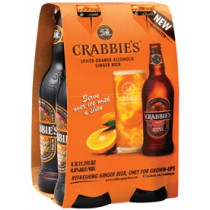 Crabbie's Orange Alcoholic Ginger Beer 12oz - 4 Pack