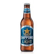 Sapporo Light Premium Beer 12oz - 6 Bottles